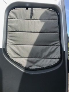 2019 Sprinter rear door window cover