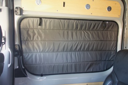 Sprinter van sliding door window cover