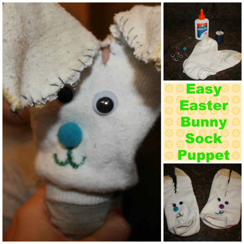 Bunny Sock Puppet #EasterValue #CollectiveBias