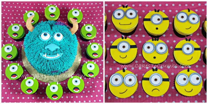 Mike , Sulley and Minions!