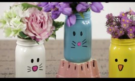 Spring Hacks: Adorable Animal Mason Jar Vases