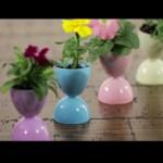 Spring Hacks: Egg Flower Pots