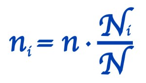 muestreo probabilistico formula