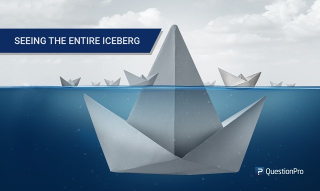 Seeing the entire iceberg