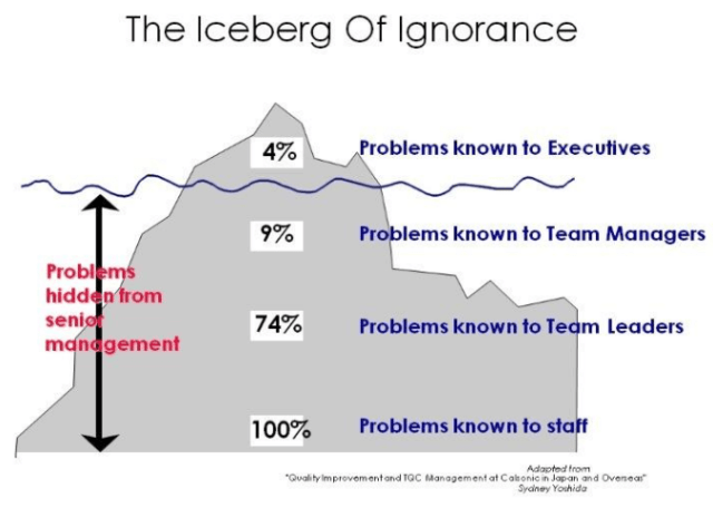 The iceberg of ignorance