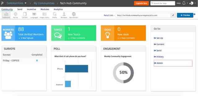 QuestionPro Communities Admin Portal