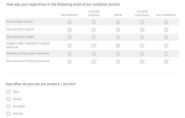 client feedback questions
