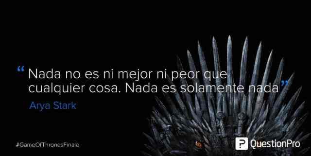 frases Arya Stark Game of Thrones
