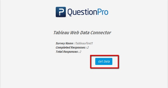 obtener datos de QuestionPro para Tableu