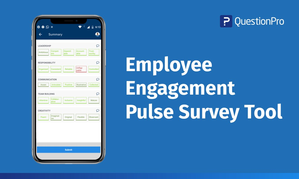 Employee Engagement Pulse Survey Tool