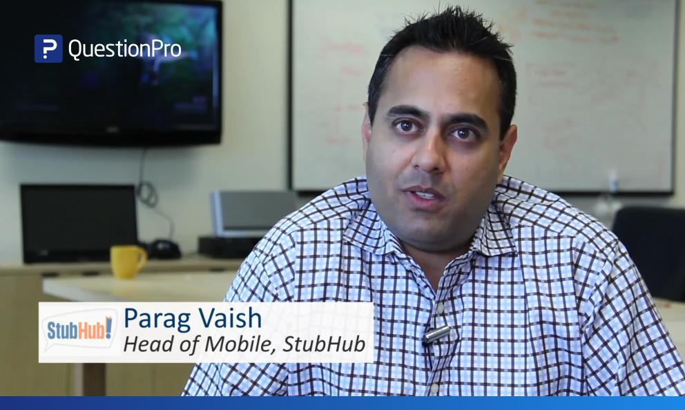 How do surveys help boost productivity? Parag Vaish of StubHub shares his views