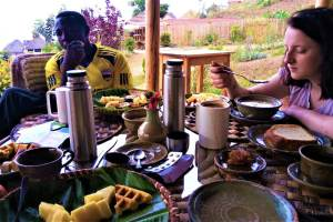Breakfast from Kigali, Rwanda.