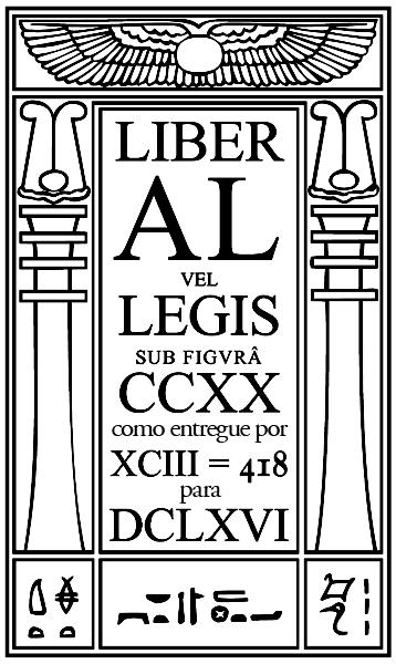 Liber AL vel Legis - Frontstpício