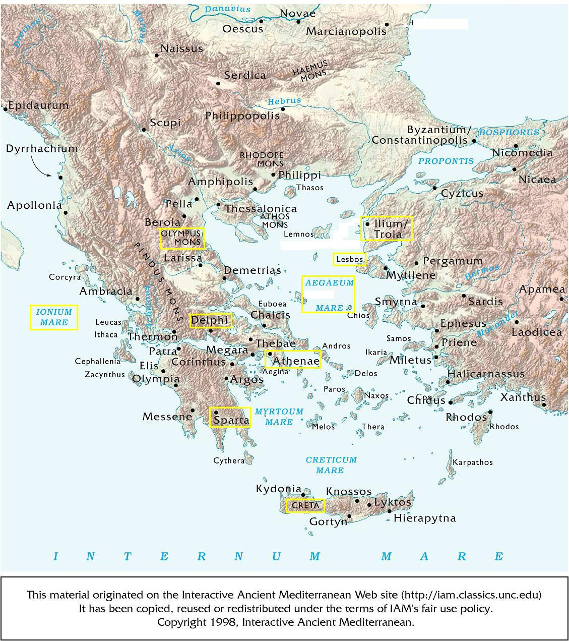 Downloadable Map Of Ancient Greece Quiz