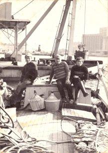 Matteo Coppola (a sinistra) nel 1970