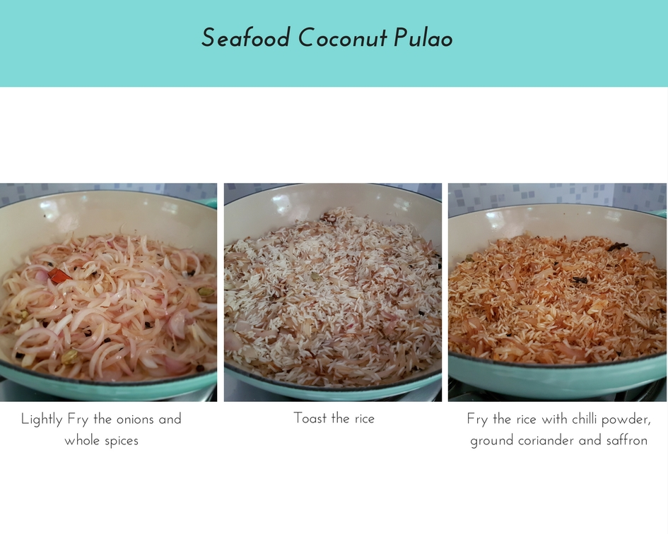 Seafood Coconut Pulao (Pilaf) / www.quichentell.com