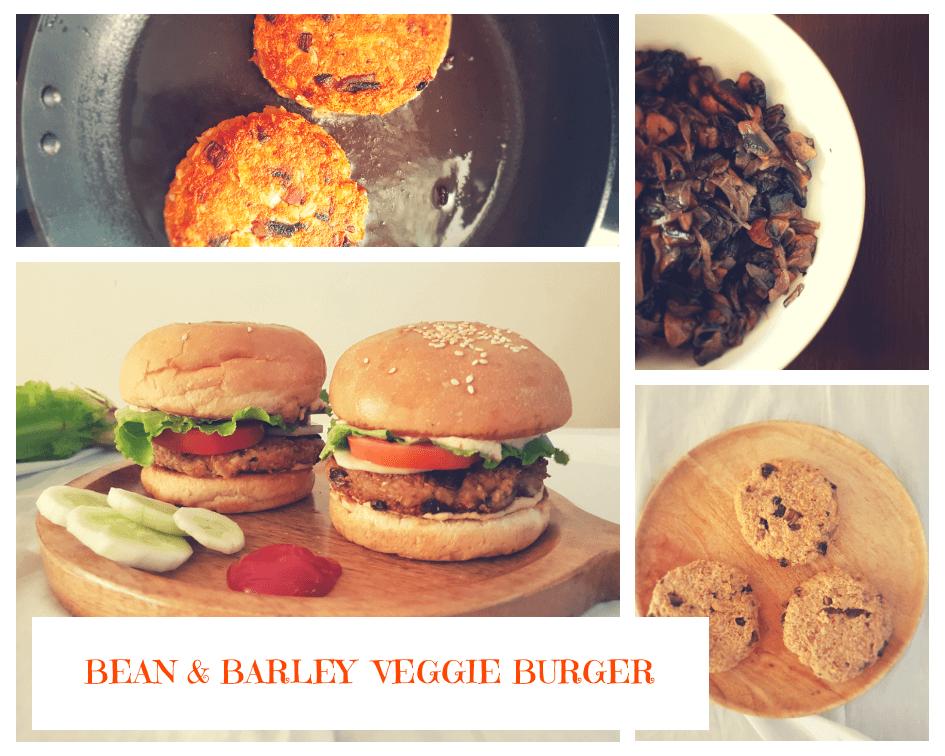 Bean & Barley Veggie Burger