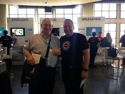 QuickBooks vs Xero Support - Xero CEO tweets pic with Mike Block