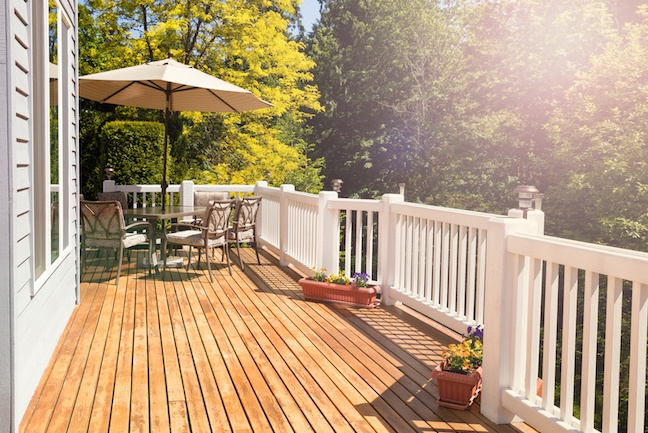 Wood Deck or Cement Patio? on Patio With Deck Ideas id=73153