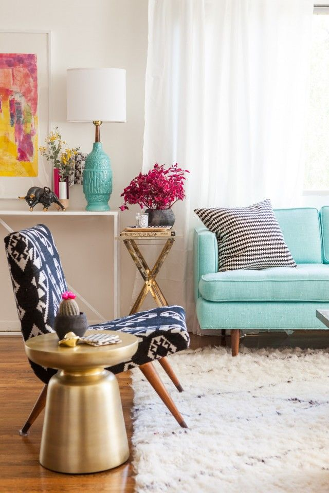 View In Gallery Contemporary Living Room With And Scandinavian Touches Design Jen Talbot