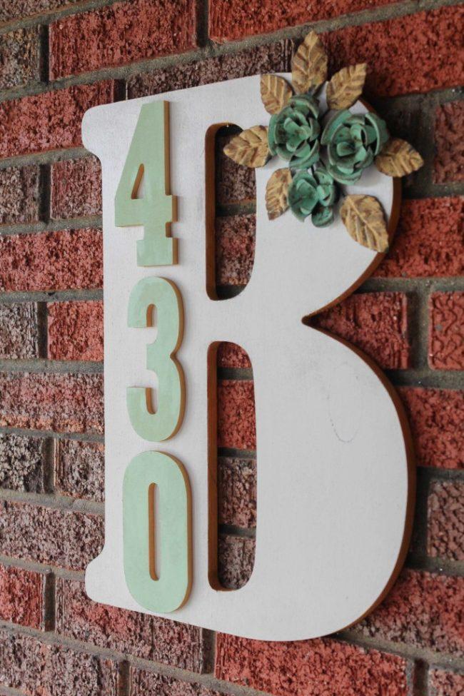 Monogrammed house number