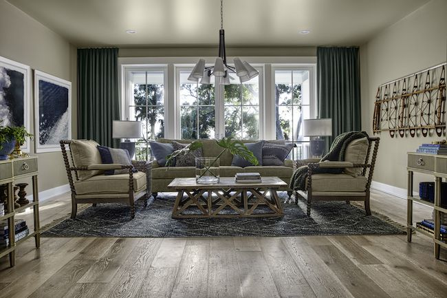 HGTV Dream Home 2020 - Multipurpose Room featuring beige, gray and slate blue furniture and accents