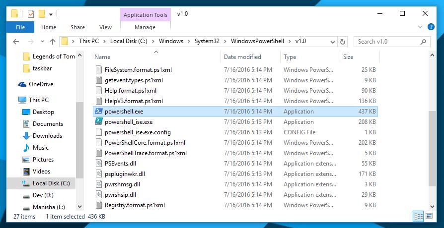 open powershell, windows 10, as admin, ways