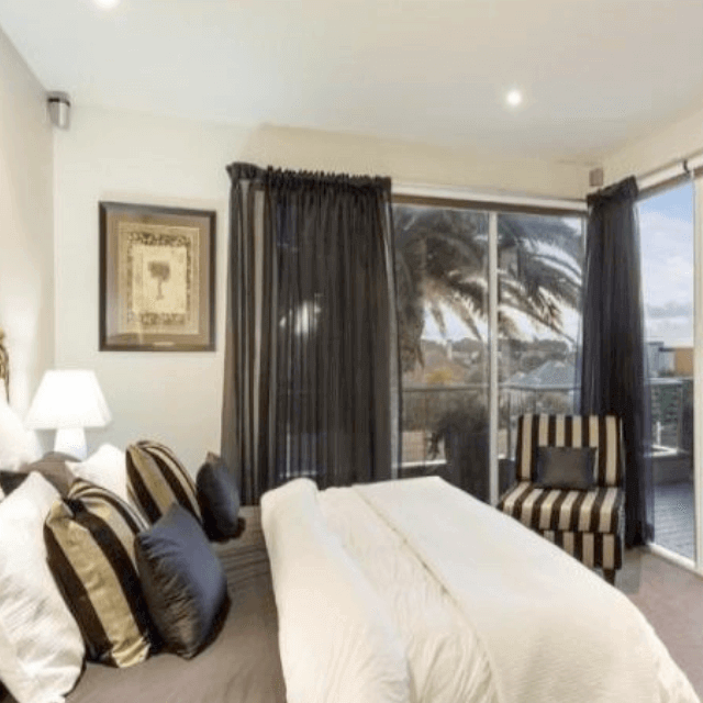 Choose a palette of black and white in your bedroom to create a look of simple sophistication. Black Curtains 6 Rooms To Get You Decorating With Black Quickfit Blinds And Curtains