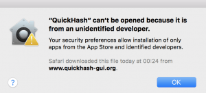 OSX warning about unsafe version