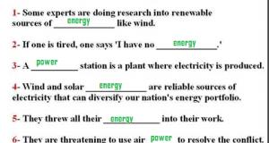 Power VS Energy تمارين محلولة اختيارية ثانوية عامة