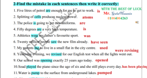 مراجعة ليلة الامتحان الثانية انجليزي من دليل التقويم ثانوية عامة