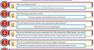 اجابات جميع اسئلة Black Beauty في كتاب الطالب والتدريبات ترم اول