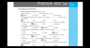تحميل ومشاهدة اجابات Practice test 5A للصف الثالث الثانوي