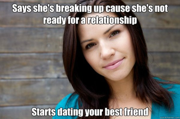 Says she's breaking up cause she's not ready for a ...