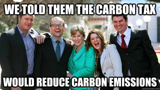 We Told Them The Carbon Tax Would Reduce Carbon Emissions