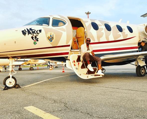 Dj Black Coffee private jet