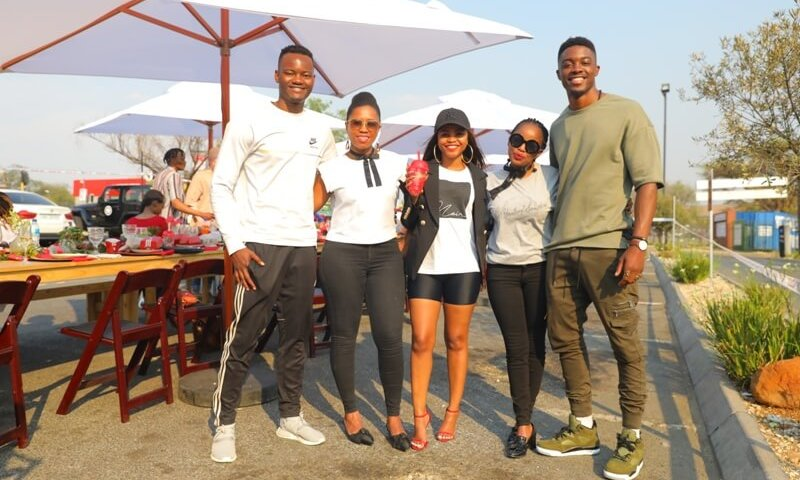 Tino Chinyani, Khanya Mkangisa and Tebello Motsoane KFC