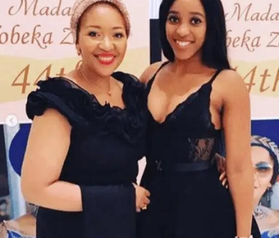 Sbahle Mpisane and Tobeka Madiba-Zuma