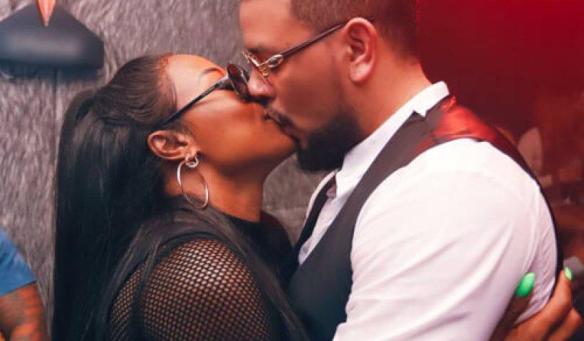 AKA and DJ Zinhle kissing