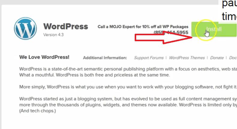 Install WordPress Bluehost 2