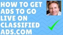 classifiedads.com how to get ads to go live