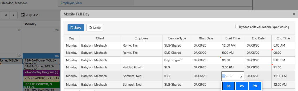 Modify Full Day Details Grid in QSP