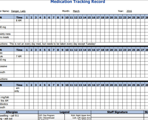 client medication adminstration tracking