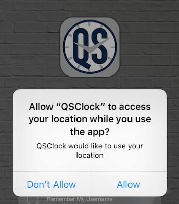 QSClock location request