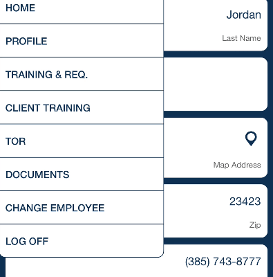 employee menu QSP Mobile