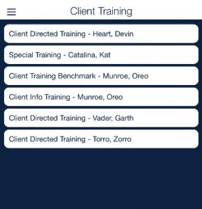 client training list