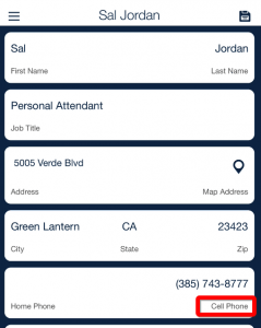 select employee phone number