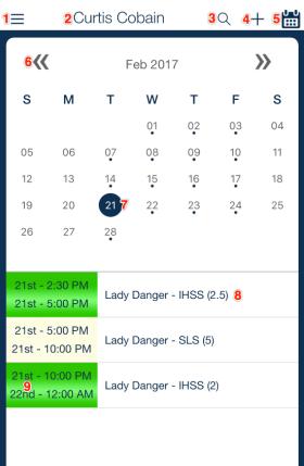 Schedule overview qsp mobile app