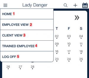 client scheduling menu options_qsp mobile app
