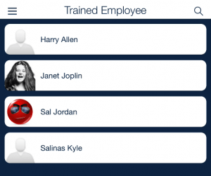 schedule employees trained with clients_qsp mobile app